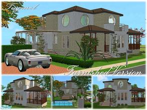 Sims 2 — Tgm-Lot-71 (Furnished) by TugmeL — 2 bedrooms, 2 bathrooms terrace, balcony, garden, pool and private garage and
