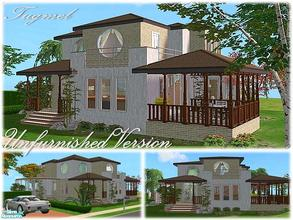 Sims 2 — Tgm-Lot-71a (Unfurnished) by TugmeL — 2 bedrooms, 2 bathrooms terrace, balcony, garden, pool and private garage