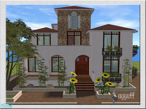 Sims 2 — Villa Breeze by ayyuff — 2x3(small lot)-Fully tested in game and with Clean Installer.