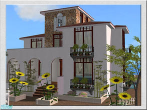 Sims 2 — Villa Breeze *Furnished Version* by ayyuff — 2x3(small lot)-Fully tested in game and with Clean Installer- See