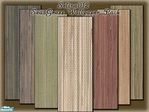 Sims 2 — Sea Grass Wallpaper pack by selina012 — A mixture of different coloured sea grass wallpapers. Cost $0 in game.