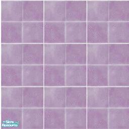 Colorful Bathroom Floor Tiles In Purple