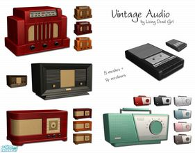 Sims 2 — Vintage Audio by Living Dead Girl — Five radio meshes and fourteen recolours.