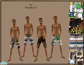 Sims 2 — Surfin\' Tyme - Set 1 by Murphy75 — Summer is getting close, so here are some swimsuits for your adult male