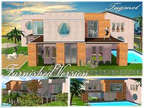 Sims 2 — Tgm-Lot-76 (Furnished) by TugmeL — 4 bdr, 3 bth, terrace, balcony, garden, pool and private garage and Full