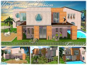 Sims 2 — Tgm-Lot-76a (Unfurnished) by TugmeL — 4 bedrooms, 3 bathrooms, terrace, balcony, garden, pool and private garage