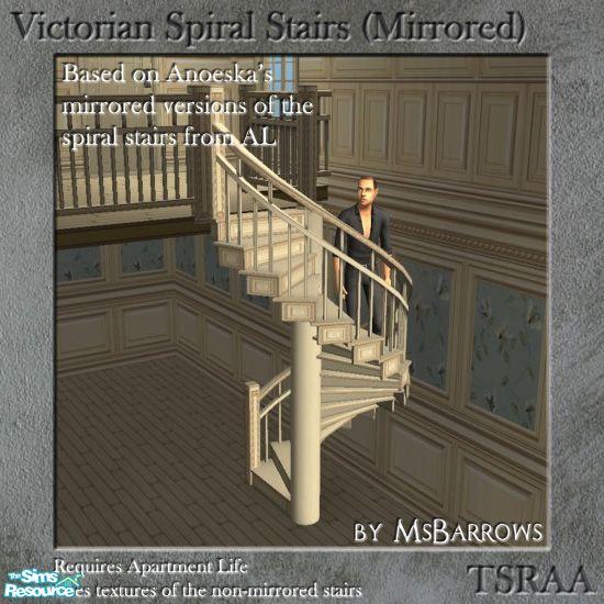 Msbarrows 39 Victorian Spiral Stairs Mirrored Mesh
