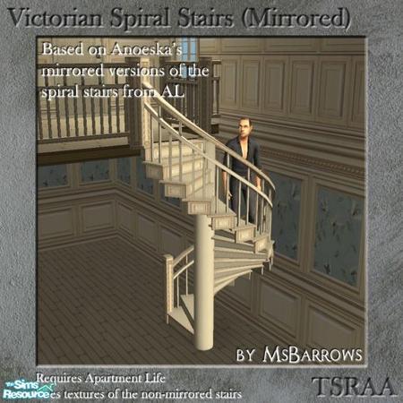 Msbarrows 39 victorian spiral stairs mirrored mesh for Victorian spiral staircase
