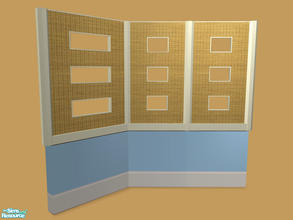 Sims 2 — Tane Dining - Cream Half-Wall - Mesh by Shakeshaft — Part of a recolour of the Tane Dining set,with recolours of