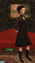 Sims 2 — Gothic maternity clothes by macthekat — I made this dress because I was fustraited not to have any gothic