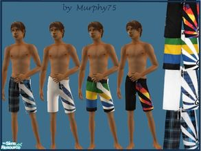 Sims 2 — Surfin\' Tyme - Set 2 by Murphy75 — More swimsuits for adult males! Enjoy!