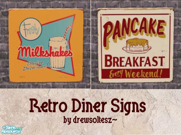 Drewsolteszs Retro Diner Signs