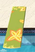 Sims 2 — tams pool set for tc 131 - Diving Board For Tc 131 by tambriah — orange underside with green beach patterned top