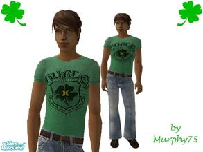 Sims 2 — Shamrock Tee & Jeans by Murphy75 — St. Pats day is here! Celebrate with a new tee & jean outfit for your