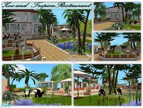 Sims 2 — Tgm-Lot-78 (Zoo and Restaurant) by TugmeL — This is where all the animals a exotic garden, restaurant, play and