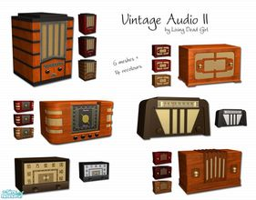 Sims 2 — Vintage Audio Part II by Living Dead Girl — Six radio meshes and fourteen recolours.