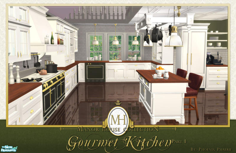 Phoenix phaerie 39 s manor house collection gourmet kitchen pt i for Sims 2 kitchen ideas