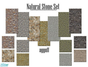 Sims 2 — Natural Stone Set by ayyuff — Cost:2