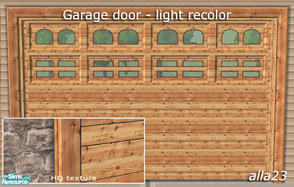 Sims 2 — Garage door - light recolor by Semitone — Garage door - light recolor