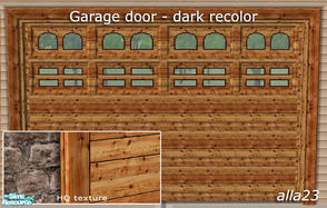 Sims 2 — Garage door - dark recolor by Semitone — Garage door - dark recolor