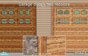 Sims 2 — Garage door - two recolors by Semitone — Garage door - two recolors