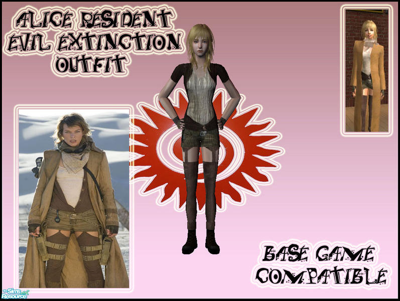 Prowlertylo S Alice Resident Evil Extinction Outfit Base Game