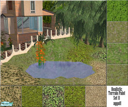 Sims 2 — Realistic Terrain Paint Set 11 by ayyuff — 9 new realistic ground covers.