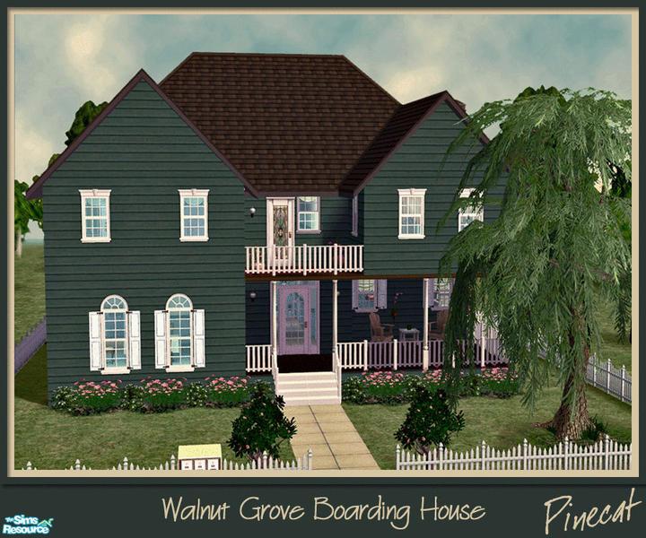 Walnut Grove Apartments: Pinecat's Walnut Grove Boarding House (apartment Lot