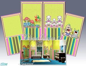 Sims 2 — Tgm-Wallpaper Set-09 by TugmeL — For baby and child bedroom wallpaper!.. Included:4 Wallpapers, Cost:5