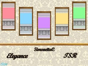 Sims 2 — Elegance by SimonettaC — Soft matt paint with classical plaster mouldings. Finished off with a very elegant