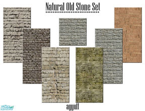 Sims 2 — Natural Old Stone Set by ayyuff — Cost:2