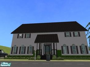 Sims 2 — Fell\'s Road by KatieKing — A colonial with adjoined dining & kitchen, foyer, music room w/ piano, mic,