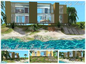 Sims 2 — Tgm-Lot-81 (Furnished) by TugmeL — Modern beach house and Only Sims-2 and Additional packages are ready for the