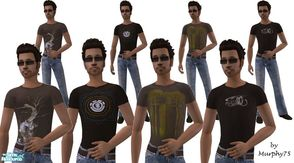 Sims 2 — Earth - SR4 by Murphy75 — A new collection of earth toned t-shirts and jeans for adult males sims! Enjoy!