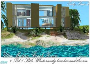 Sims 2 — Tgm-Lot-81a (Unfurnished) by TugmeL — Modern beach house, sandy beaches, sea and Only Sims-2!! Additional