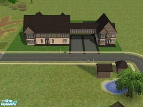 Sims 2 — Colton Compound by kattmc3 — This is a two story dream home with attached guest house. If you are one of those