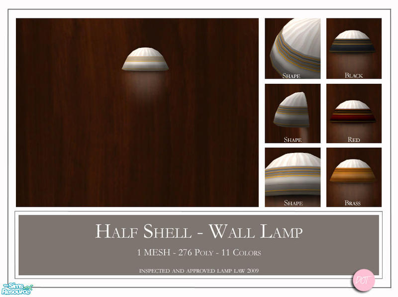 Half Shell Wall Lights : DOT s Half Shell Wall Lamp