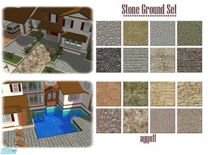 Sims 2 — Stone Ground Set by ayyuff — 16 new terrain paints