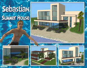 Sims 2 — Sebastian Summer House by estatica — This fantastic summer house was once the property of the famous Sim