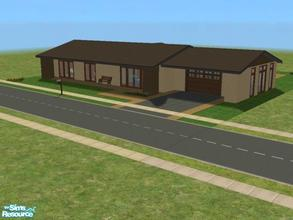 Sims 2 — C-2 by kattmc3 — A 3 bedroom,2 bathroom house with a one car garage and pool.
