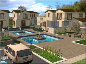 Sims 2 — Luxury Apart Villas by ayyuff — 4x4(large lot)-fully tested in game and with Clean Installer-