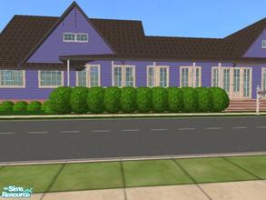 Sims 2 — Casual Corner by themcgfamily — Special features: covered front porch, and rear porchs add outdoor living area,