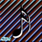 Sims 1 — Bachman Music Bar Floor 2 by MasterCrimson_19 — These are musical notes that go well as checkerboard floor tile