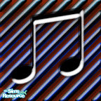 Sims 1 — Bachman Music Bar Floor 4 by MasterCrimson_19 — These are musical notes that go well as checkerboard floor tile