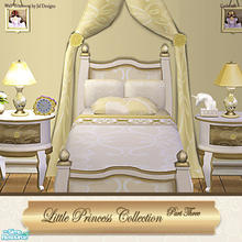 Sims 2 — Little Princess Bedroom Bed Cream Recol by Cashcraft — A recolor of the Little Princess Bedroom collection in