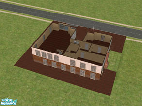 "Sims 2 — Southern Living 5 by themcgfamily — Part of ""Southern Living Homes\"" this home features a large"