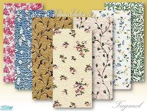 Sims 2 — Tgm-Wallpaper Set-14 by TugmeL — Included 7 Laura Ashley pattern Wallpapers, Cost:5