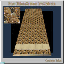 Sims 2 — Travertine & Sandstone Drive - Brown Oklahoma by Cerulean Talon — Sturdy and beautiful, drives and