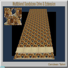Sims 2 — Travertine & Sandstone Drive - Multiblend Oklahoma by Cerulean Talon — Sturdy and beautiful, drives and