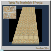 Sims 2 — Travertine & Sandstone Drive - Tumbled Blue Travertine by Cerulean Talon — Sturdy and beautiful, drives and